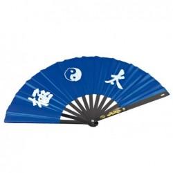 Tai Chi waaier blauw