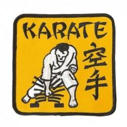 Patch Karate in geel