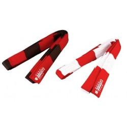 Gordel rood/wit